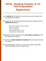 mtle reading teacher k 12 test preparation registration