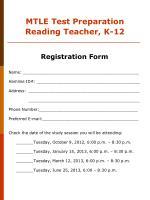 mtle test preparation reading teacher k 12