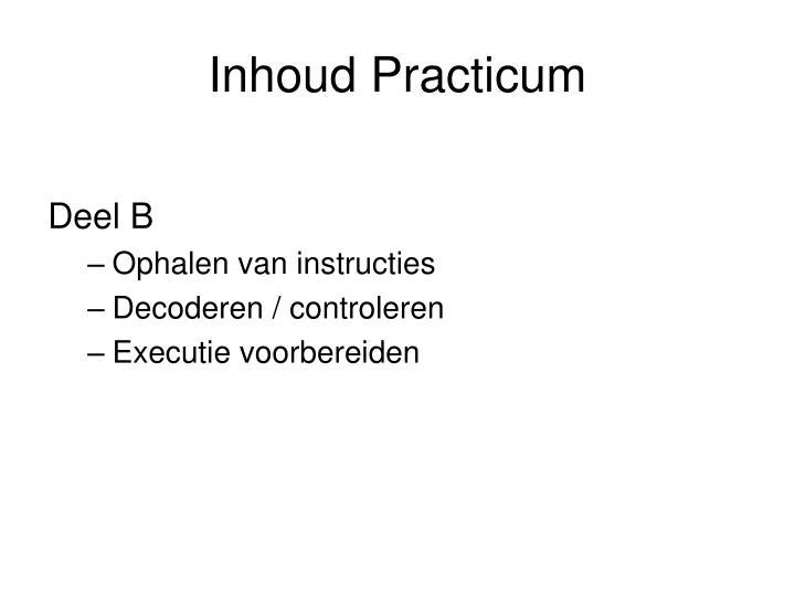 Inhoud Practicum