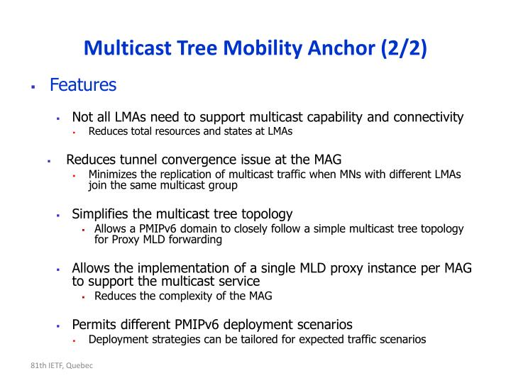 Multicast tree mobility anchor 2 2