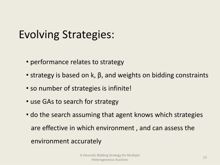 Evolving Strategies: