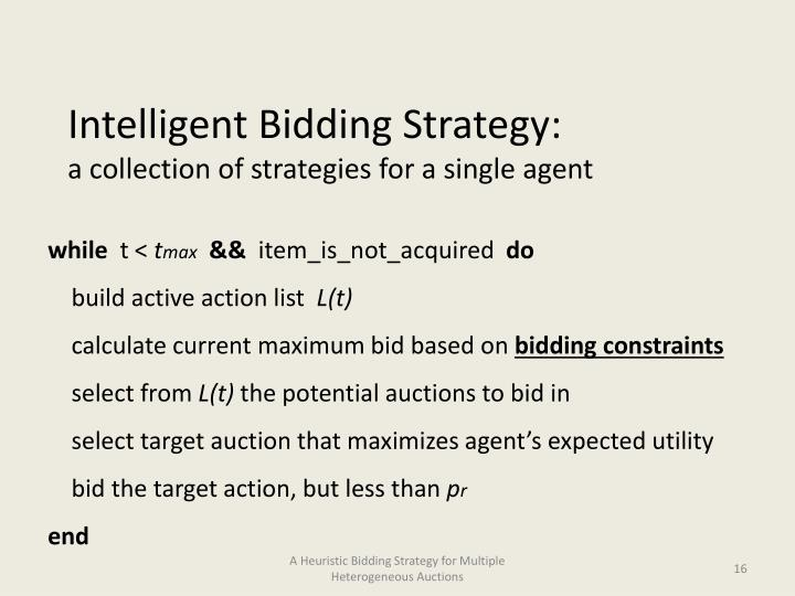 Intelligent Bidding Strategy: