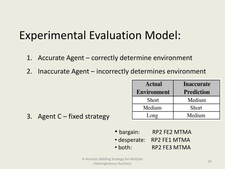 Experimental Evaluation Model: