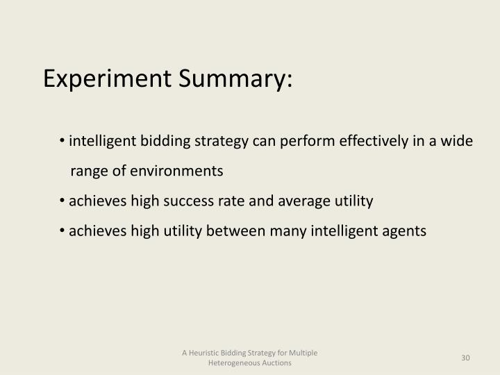 Experiment Summary: