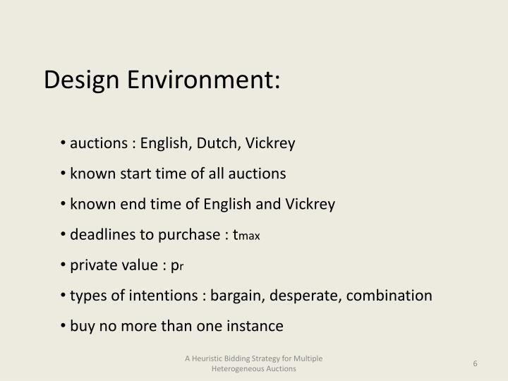 Design Environment: