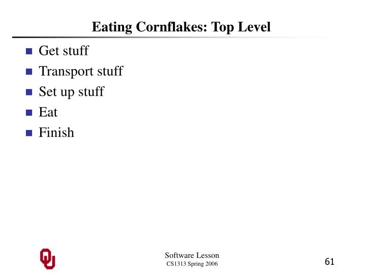 Eating Cornflakes: Top Level