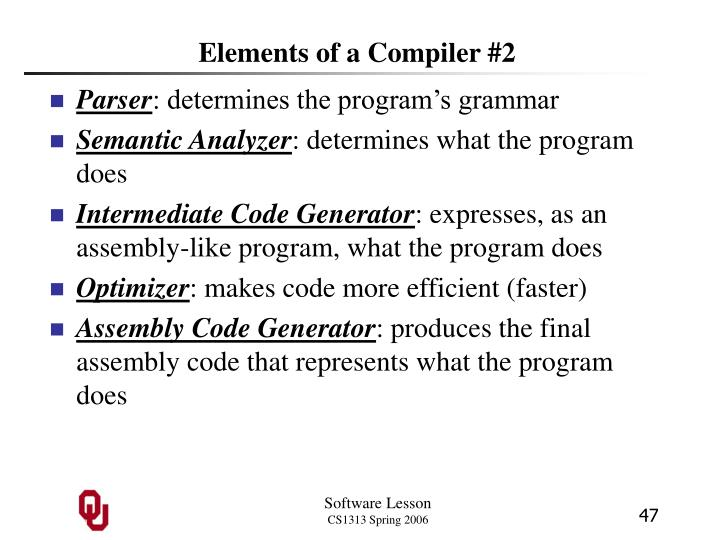 Elements of a Compiler #2