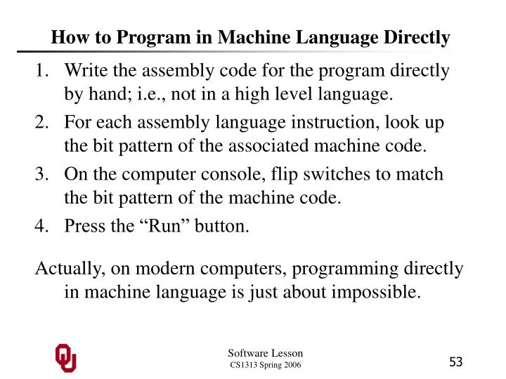 How to Program in Machine Language Directly