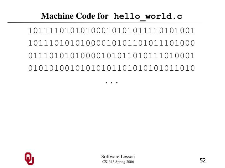 Machine Code for