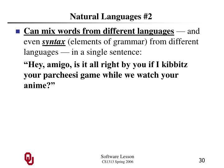 Natural Languages #2