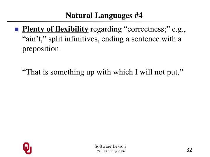 Natural Languages #4