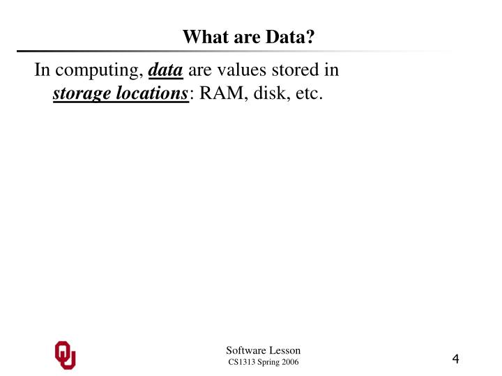 What are Data?