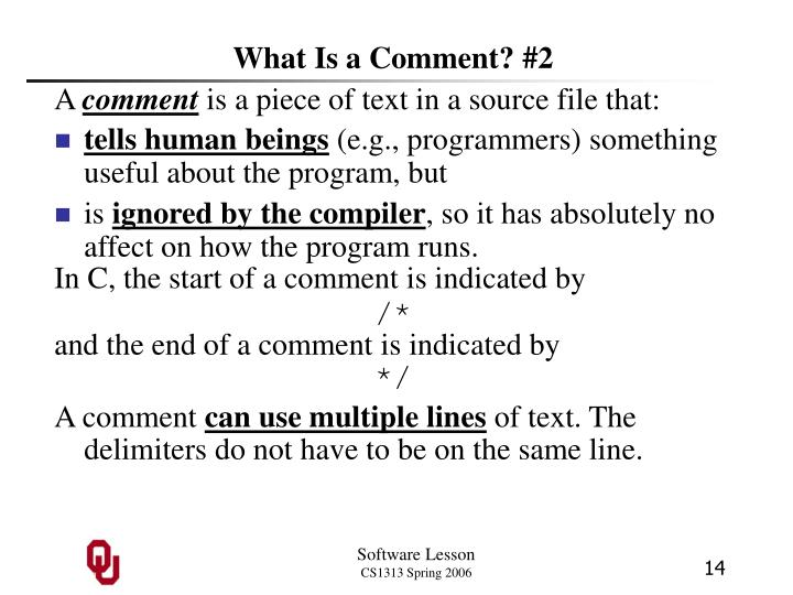 What Is a Comment? #2