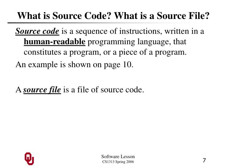 What is Source Code? What is a Source File?