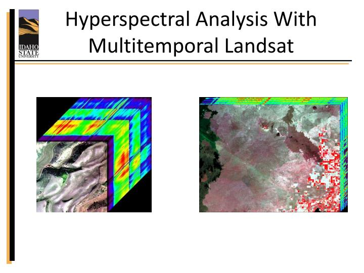 Hyperspectral analysis with multitemporal landsat