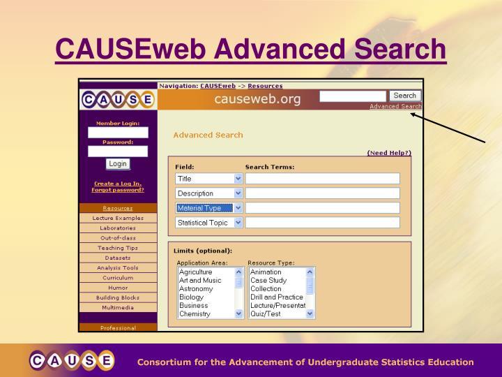 CAUSEweb Advanced Search