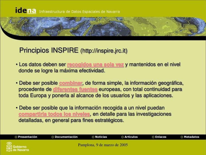 Principios INSPIRE