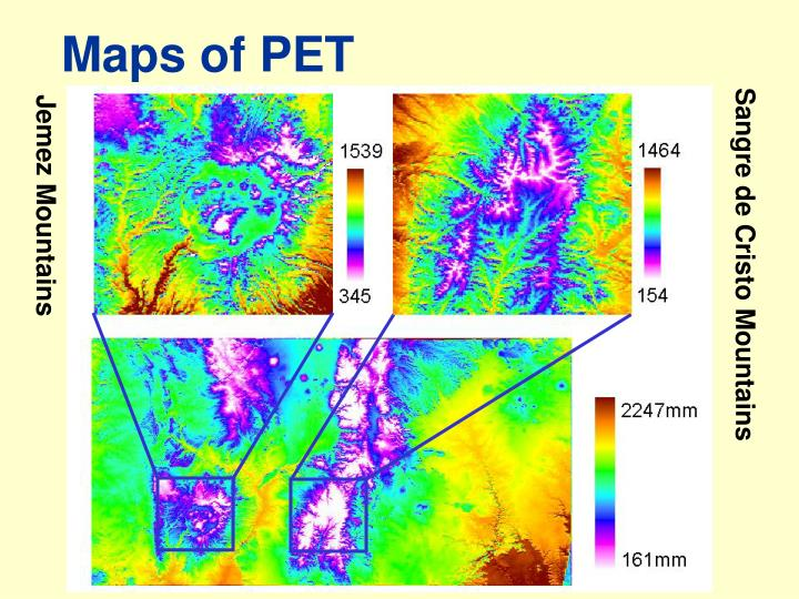 Maps of PET