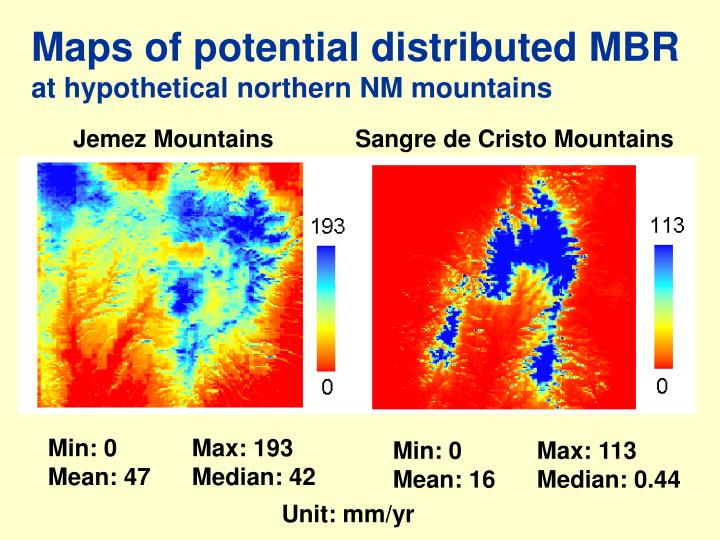 Maps of potential distributed MBR