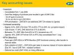 key accounting issues