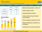sea region south africa financial and operational highlights