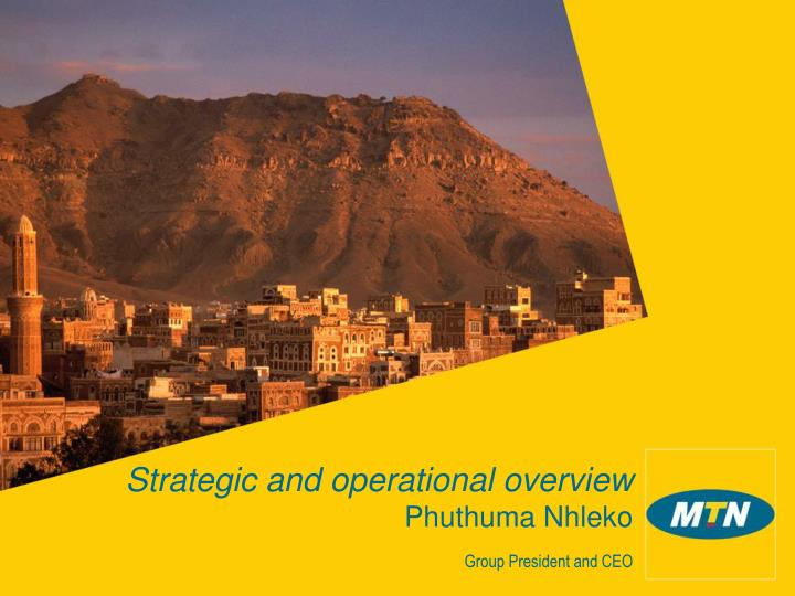 Strategic and operational overview phuthuma nhleko