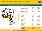 west central africa weca region