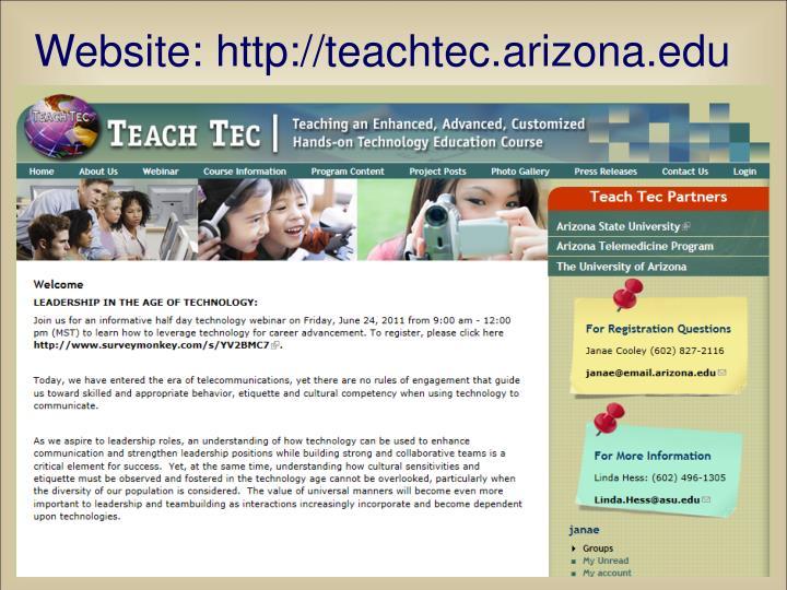 Website: http://teachtec.arizona.edu
