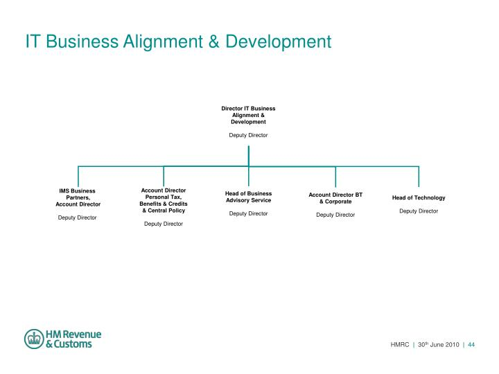 IT Business Alignment & Development