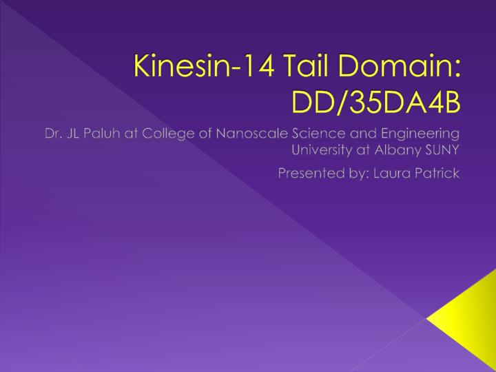 Kinesin 14 tail domain dd 35da4b