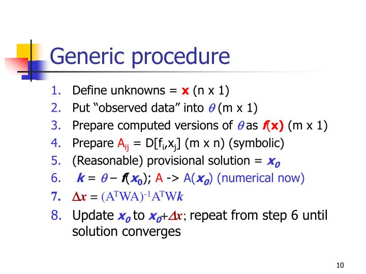Generic procedure