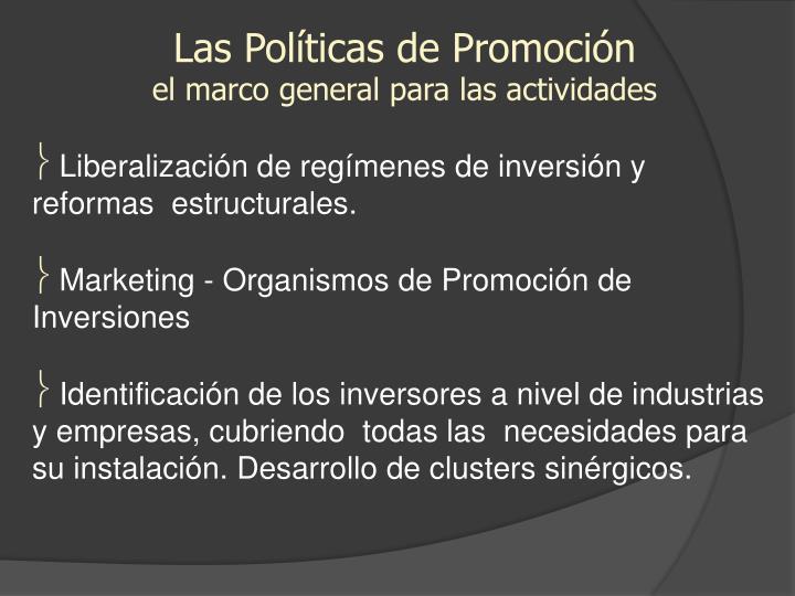 Las Políticas de Promoción