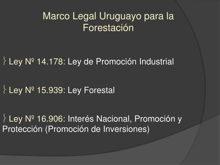 Marco Legal Uruguayo para la Forestación