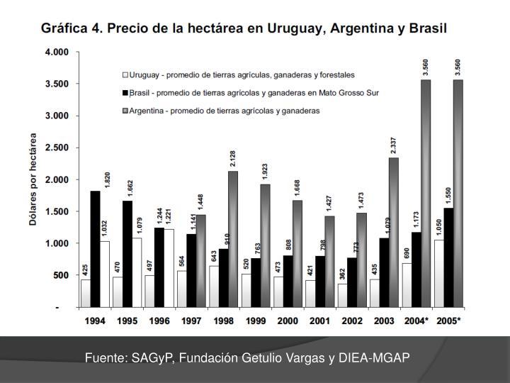 Fuente: SAGyP, Fundación Getulio Vargas y DIEA-MGAP