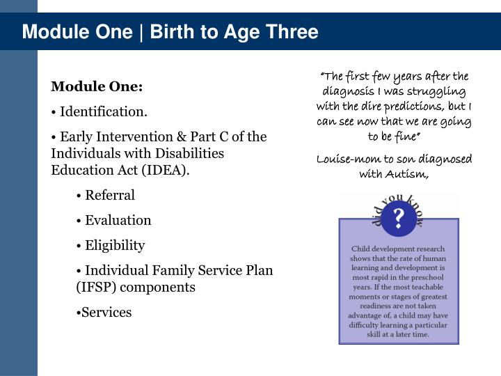 Module One | Birth to Age Three