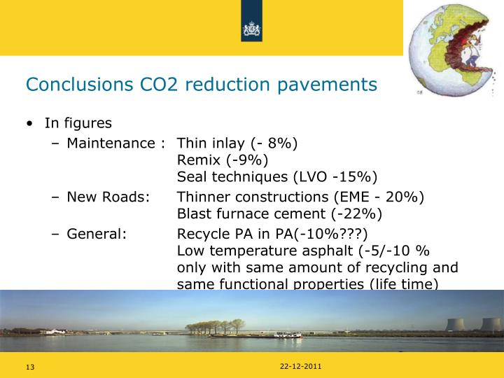 Conclusions CO2 reduction pavements