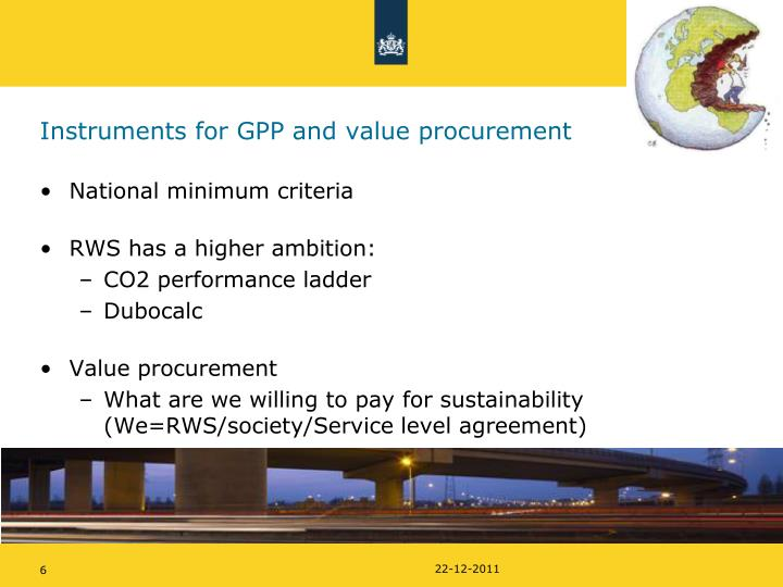 Instruments for GPP and value procurement