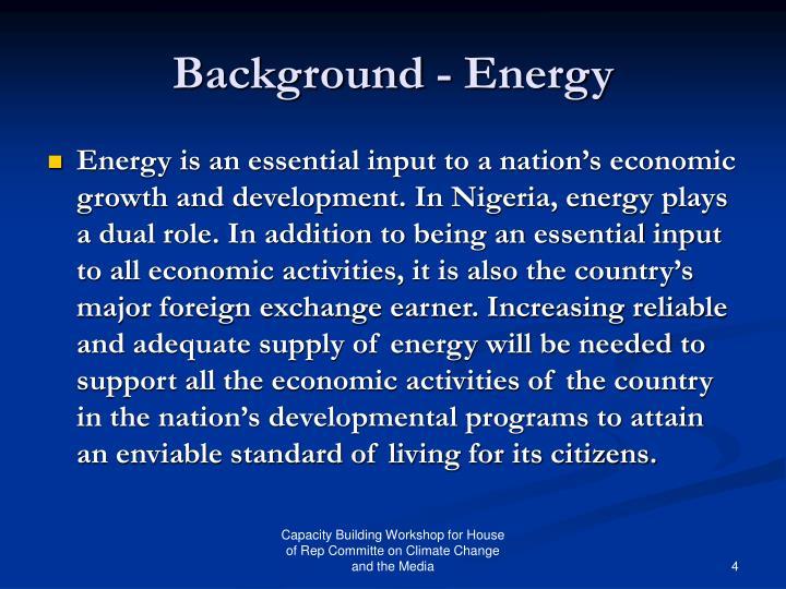 Background - Energy