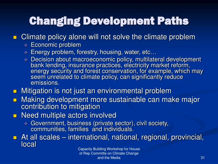 Changing Development Paths