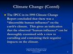 climate change contd