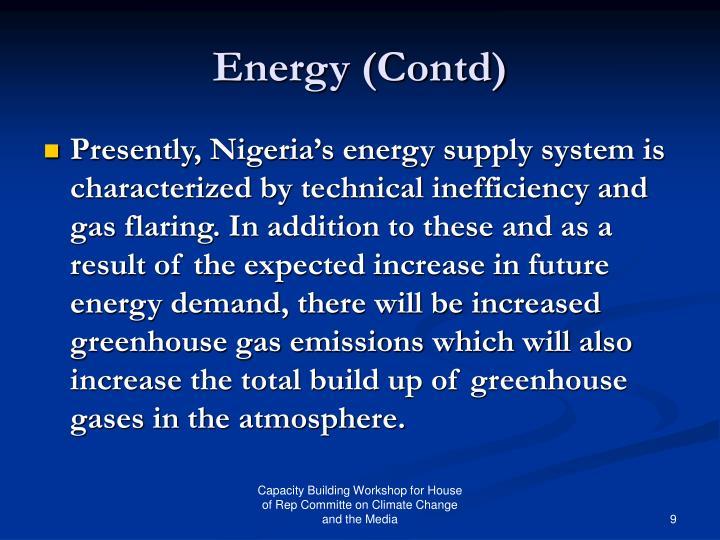 Energy (Contd)
