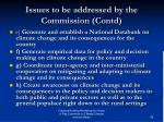 issues to be addressed by the commission contd1