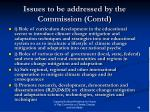 issues to be addressed by the commission contd2