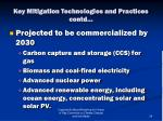 key mitigation technologies and practices contd