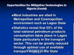 opportunities for mitigation technologies in nigeria contd