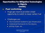 opportunities for mitigation technologies in nigeria contd1