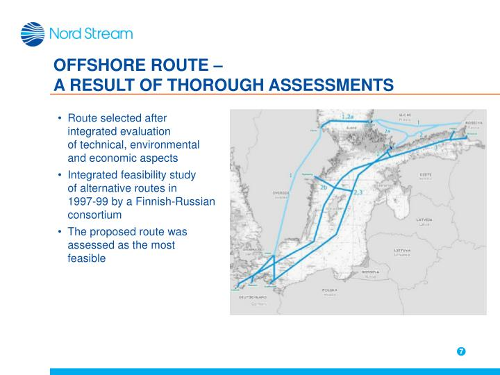OFFSHORE ROUTE –
