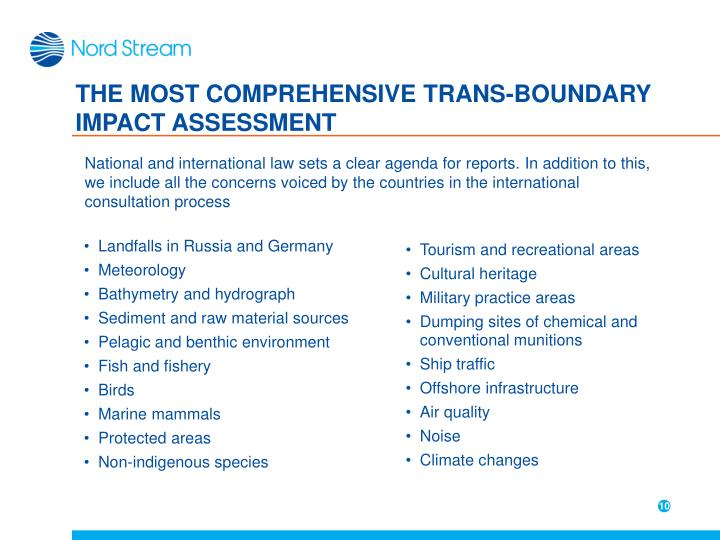 THE MOST COMPREHENSIVE TRANS-BOUNDARY IMPACT ASSESSMENT