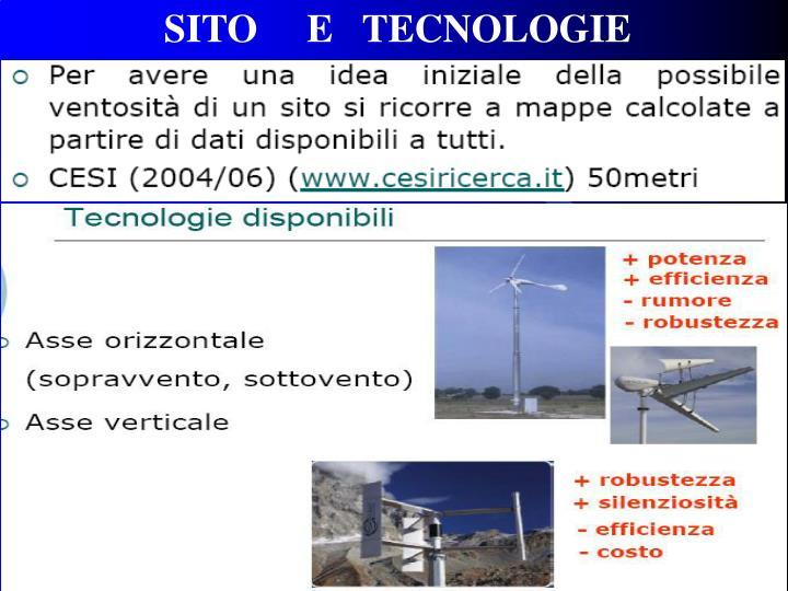 SITO     E   TECNOLOGIE