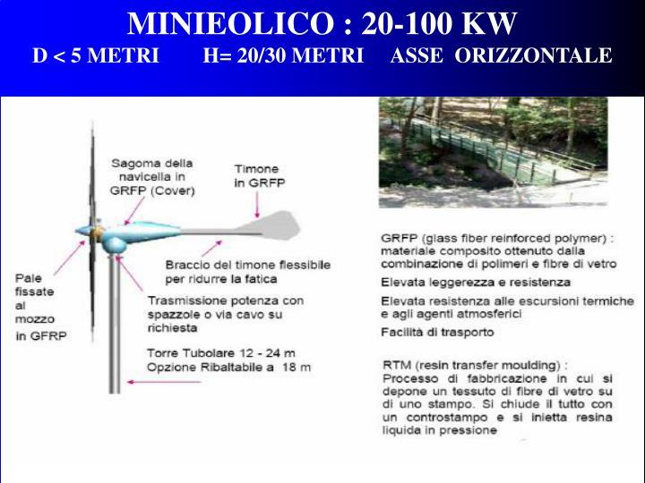 MINIEOLICO : 20-100 KW